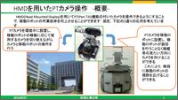 HMDを用いたPTカメラの操作