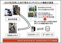 RSNPを活用した歩行車のインテリジェント機能の提案